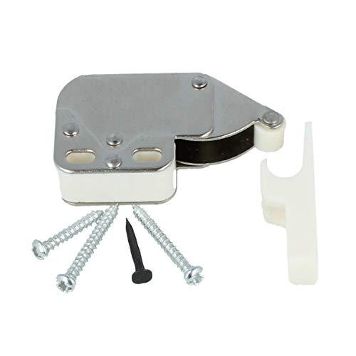 Federschnäpper Mini-Latch Druckverschluß Federschnappverschluß aus Kunststoff (Weiß)