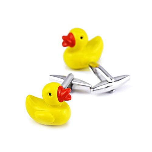 Ubestlove Cuff Links Mens Yellow Duck Cufflinks Business Gift Set Copper Cuff Links