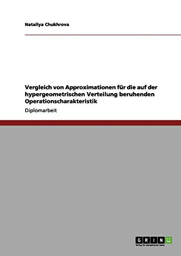Vergleich von Approximationen für die auf der hypergeometrischen Verteilung beruhenden Operationscharakteristik