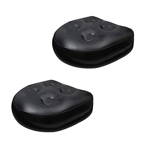Anjinguang Lazy Spa Sitze für Whirlpool, multifunktionale Spa Tub Booster Sitzkissen, aufblasbares Pad, wasserdicht, Badewanne, Massagematte, weiche Rückenstütze, 2 Stück