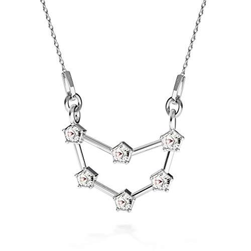 Beforia Paris – Collar – signo del zodiaco – Caballete de piedra – Cristal – con cadena de plata de ley 925 con colgante Swarovski® Elements, regalo, collar con estuche de joyas PIN/75