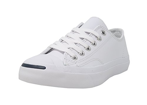 Converse Jack Purcell Leather Fashion-Sneakers, White, 5 B(M) US Women / 3.5 D(M) US Men