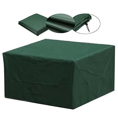 Yadaln Funda Muebles JardíN Cubiert ProteccióN Mesa Muebles Mpermeable Patio al Aire Libre PañO Oxford 210D Prueba Viento Anti-UV Funda Impermeable Exterior Verde Yadlan(Color:160 * 160 * 70cm)