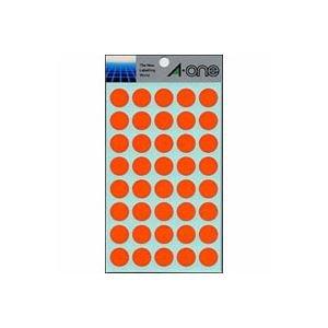 (業務用セット) エーワン カラーラベル 丸型15mm径 07025 橙 1P14シート(560片)入 【×10セット】