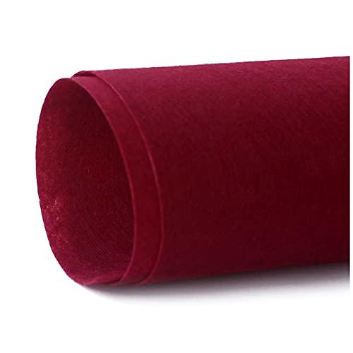 ZHAOFENGE-maotan Telas para Coser Fieltro para Manualidades por Metros 0.85m de Ancho 1mm de Grosor Telas Colores para Patchwork Costura DIY Artesanías Fieltro Artesanal (Color:Vino Tinto)