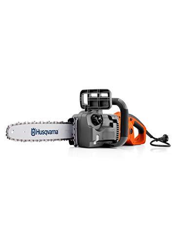 Husqvarna 418EL chainsaw Gris, Naranja, Plata - 1700 - Sierra eléctrica (35,6 cm, 15 m/s, Gris, Naranja, Plata, 0,18 L, Corriente alterna, 230 V)