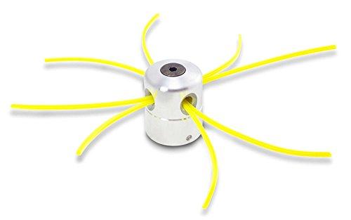 Aluminium fils Tête Coupe-bordure Tête double fil bobine Tête fil nylon pour débroussailleuse à essence