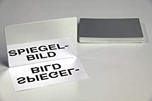 Lernen mit Spaß mit unserem 10 Kunststoff-Spiegel 150 x 100 x 1,5 mm Gespiegelte auf einer Seite Abgerundete Ecken, mit Schutzfolie ausgestattet aus Kunststoff und in einer Plastiktüte verpackt Made in Deutschland in accompliance mit allen europäisch...