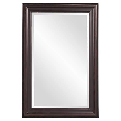 Howard Elliott George Rectangular Wood Framed Wall Vanity Mirror, 53047, Rectangular, Oil -