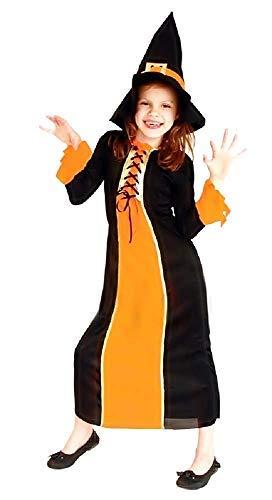 Inception Pro Infinite Disfraz - Disfraz - Carnaval - Halloween - Bruja - Megera - Maga - Color - Naranja - Nia - Talla XL - 8 - 9 aos - Idea regalo original