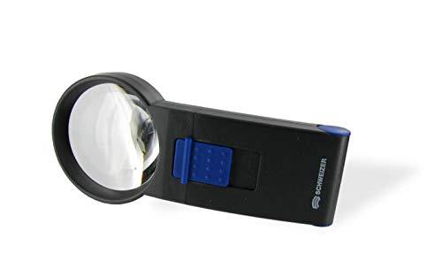 Hand-Leuchtlupe Led Mobil Vergrößerung 8-fach, 3,5 cm Durchmesser