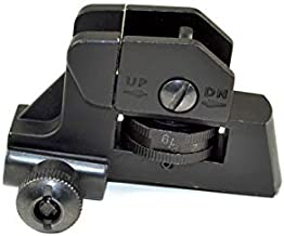 SNIPER Complete Rear Sight with Windage/Elevation Adjustment and Tactical Picatinny Mounting Deck