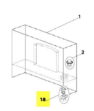 ENSEMBLE GUIDE PISTON RESERVOIR POUR PETIT ELECTROMENAGER CLIMADIFF - 11020034
