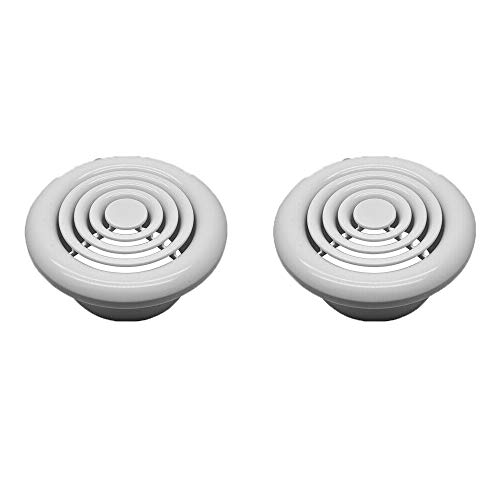 2 Pcs Internal Ventilation Round White Exhaust Ventilation Extracted Air 4' 100mm