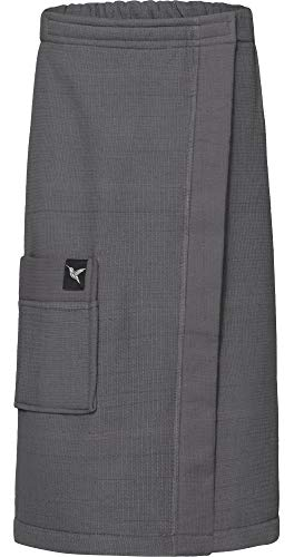 Ladeheid Kilt Toalla de Sauna de Terry Cloth Mujer LA40-196 (Gris Oscuro12, S-M)