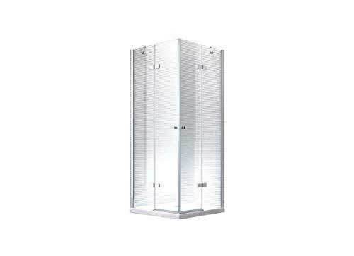 Glaszentrum Hagen - Demeter Eckduschkabine Duschkabine Dusche Duschabtrennung - 8mm - ESG-Glas - Luxus Dusche (90x75x180cm (ohne Duschtasse))