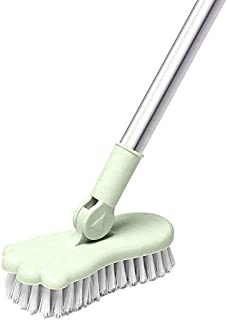 Floor Scrub Brush Bathroom Bathtub Shower Tile Grout Scrubber Rotatable 5.9inches Wide 47.2inches Long Handle Indoor Kitch...