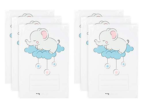 GIU.NE® Sobres para corredino de bebé, 6 unidades, bolsas, bolsas para maleta de hospital Cierre con cursor hermético Nacimiento niño Idea regalo certificado ISO9001 – 100% reciclable