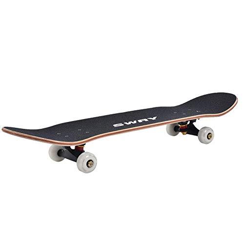 Tbest Double Warped Skateboard, Double Warped Skateboard mit Allradantrieb für Erwachsene Kinder Anfänger Profi(Graffiti)