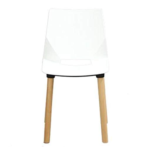 Dining Chair Hermosa silla simple escritorio de estudiante y silla de maquillaje taburete de ordenador para volver a casa fuerte (color: blanco)