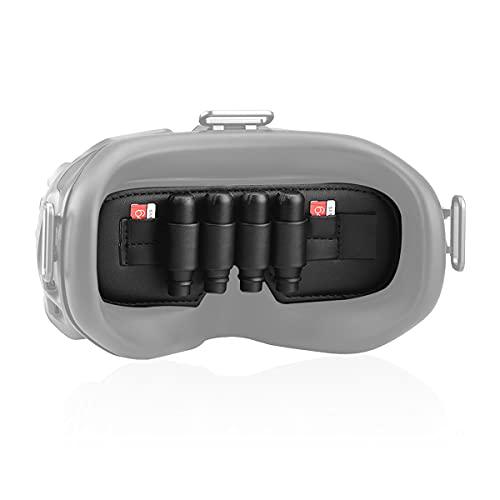 AIEVE Schutzhülle Aufbewahrungsgürtel Zubehör Organizer für die Aufbewahrung von Antenne und Speicherkarte kompatibel mit DJI FPV Goggles