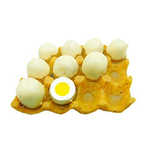 Vosarea - Imanes decorativos de resina para frigorífico o frigorífico con pegatinas magnéticas para niños (Egg Rows)
