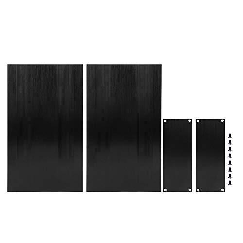 Aluminium-Projektbox - Aluminium-Projektbox, gebürstet, schwarz, geteiltes Gehäuse, DIY-Anschlussgehäuse 54x145x250mm
