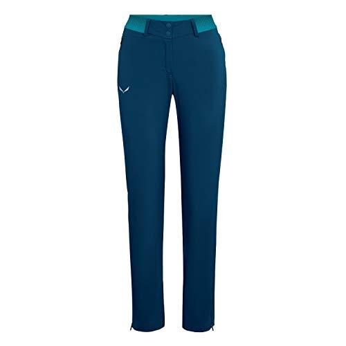 Salewa Pedroc 3 DST W Reg Pantalon Femme, Blu (Poseidon/8200), 42/36