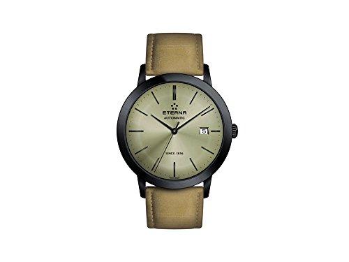 Eterna Herren Datum Norm Automatik Uhr mit Leder Armband 2700.43.90.1392
