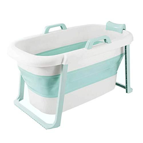 NXYJD Verde Bañera for bebés portátil Plegable for niños pequeños Bañera Plegable Infantil Ducha Cuenca Anti resbalón del resbalón de Prueba
