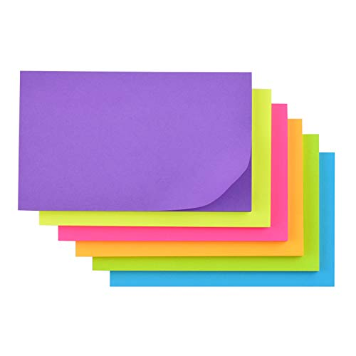 Sticky Note, Recyclable, 3 in x 5 in, 6 Pads/Pack, 50 Sheets/Pad