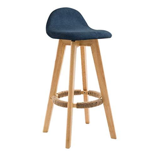 Sywlwxkq Barhocker Frühstückstheke Stühle Waschbar Barhocker Massivholzbeine Retro Rest Chair 360°Drehbarer Kneipenstuhl Küche Frühstückssitz, 37 * 70cm Küche...