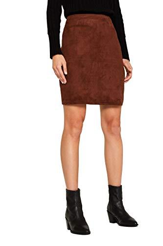 ESPRIT Damen 109Ee1D010 Rock, Braun (Dark Brown 200), (Herstellergröße: 36)