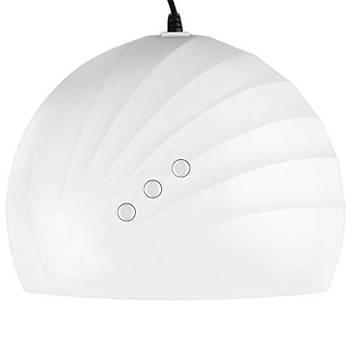 LED 36W UV Ongles Lampe Séchoirs À Ongles Portable Pratique Outils À Ongles avec Un Timing Intelligent À Trois Vitesses (60s / 90s / 120s) Cadeau (Couleur : Blanc)