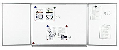 Legamaster 7-100363 Whiteboard Klapptafel Professional, platzsparend durch 2 Tafelflügel, 100 x 150/300 cm