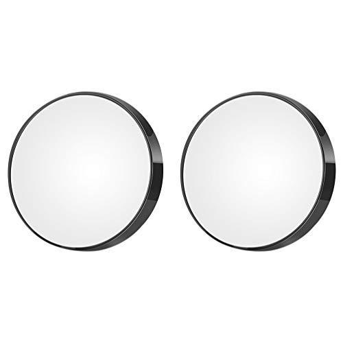 Lurrose 2Pcs Miroir Grossissant Portable 10X Miroir de Poche Grossissant Petites Ventouses Miroir pour Un Maquillage Précis