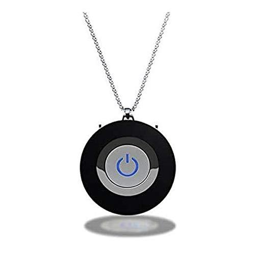Mini purificador de aire portátil, collar purificador de aire personal, purificador de aire portátil USB para niños y adultos (negro)