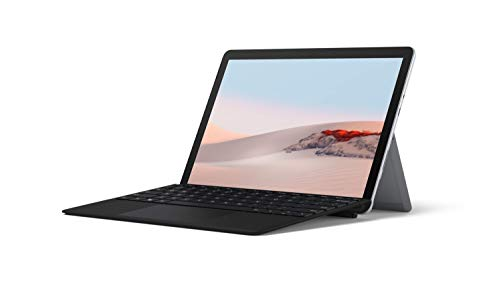 Microsoft Surface GO 2 10 Inch 2-in-1 Laptop and Tablet PC - Silver (Intel Pentium Gold Processor 4425Y, 4GB RAM, 64GB eMMC, Windows 10, 2020 Model), with Surface Go 2 Type Cover - Black