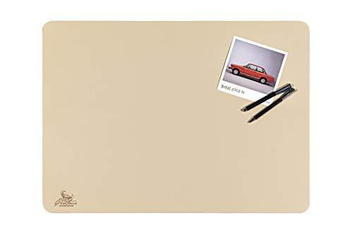 Centaur bureauonderlegger 40 x 60 cm en 50 x 70 cm handgemaakt in Duitsland echt leer 10 kleuren 40x60 champagne/beige