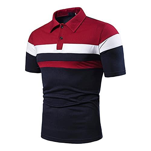 YUSWPX Camiseta Hombres Camisa de Manga Corta Camiseta Camiseta Contraste Color Camiseta Nueva Ropa Verano Streetwear Casual Moda Hombres Tops (Color : DB20 Blue, Size : L13)