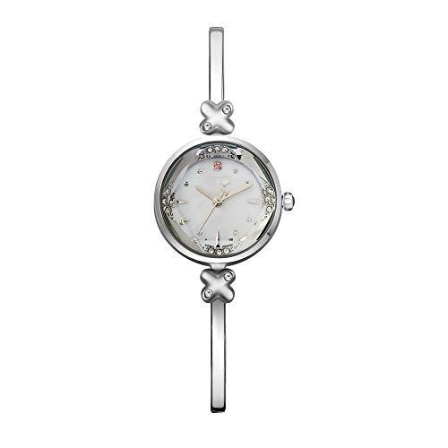 Diommest - Reloj de pulsera de cuarzo con cristales de diamante dorado, exquisito y compacto para señoras, con superficie de corte de alta dureza, elegante reloj de pulsera de cuarzo, Estilo D
