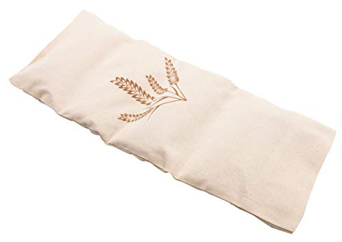 Zollner24 Körnerkissen, 20x53 cm, abnehmbarer Bezug aus 100% Baumwolle, Öko-Tex