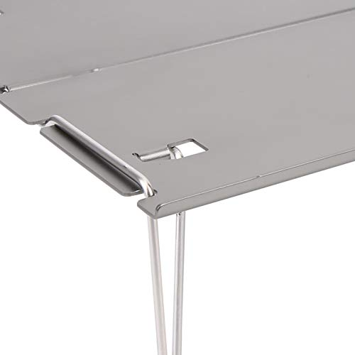 Pwshymi Non-slip Camping Folding Table Camping Table Stable for Mountaineering for Parks