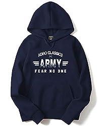 Adro Mens Army Printed Cotton Hoodies