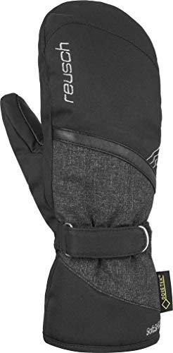 Reusch Damen Alexa GTX Mitten Handschuh, Black/Black Melange/Silver, 8