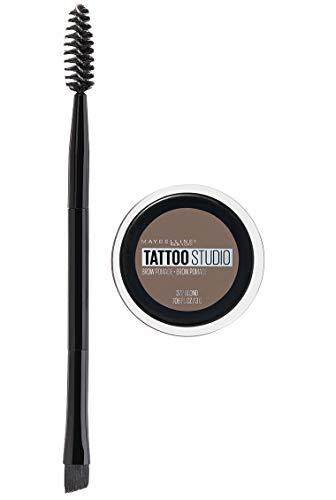 Maybelline New York Tattoostudio Brow Pomade Long Lasting, Buildable, Eyebrow Makeup, Blonde, 0.106 Oz