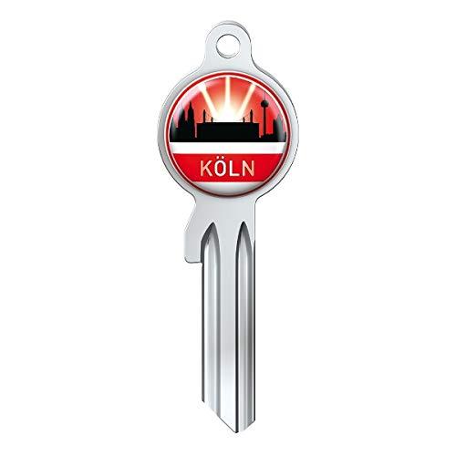 Basi Fanschlüssel Schlüsselrohling Schlüsselanhänger Fanartikel Schlüsseldienst City-Key Skyline Köln