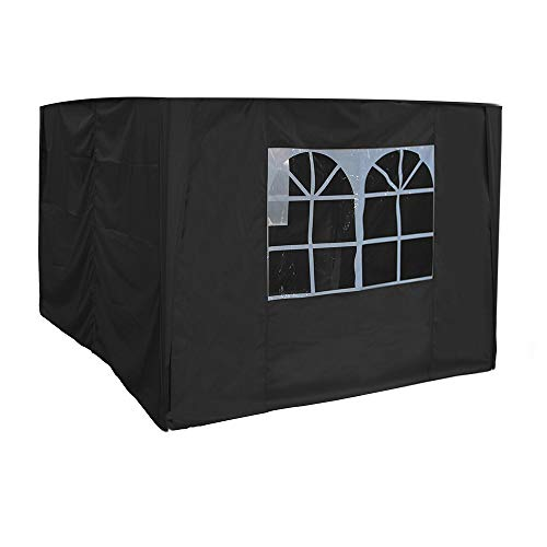 Greenbay 2.5x2.5m Pop Up Gazebo 4 Side Curtains Replacement Only Canopy Side Covers Black