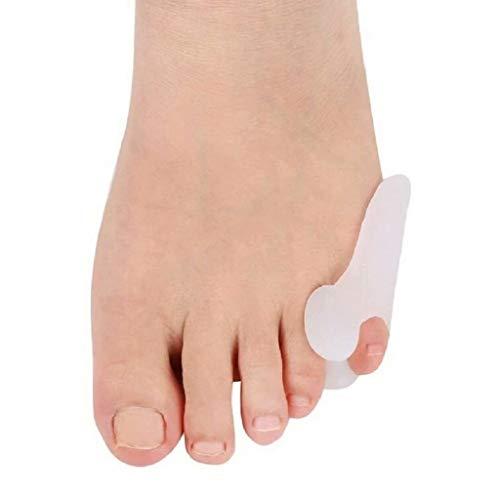 Separador de gel de sílice para juanetes de dedos pequeños, corrector de juanetes de sastre almohadilla para juanetes de alineación de dedos meñiques envoltura de alivio para callos, alivio de