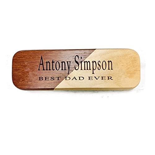 Bolígrafo y estuche de madera con grabado personalizado regalo de negocios con caja, color Contrast color